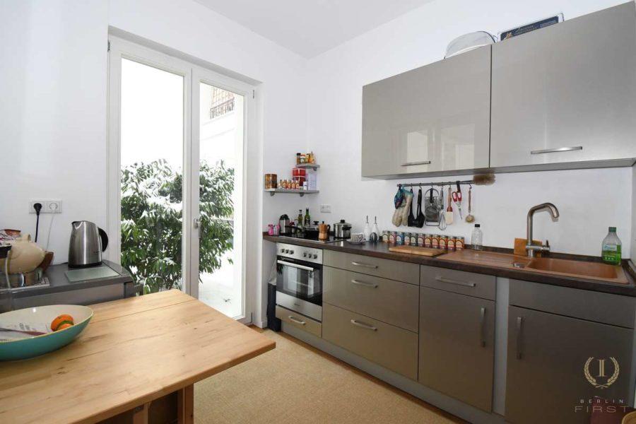 Großartige Neubauwohnung mit Gartenanteil zentral gelegen im Samariterviertel - Küche