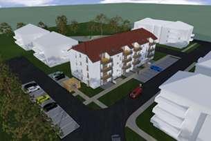 NUR 466€/m² BGF: Baugrundstück mit Baugenehmigung für Mehrfamilienwohnhaus mit 22 Wohneinheiten, 15344 Strausberg, Grundstück