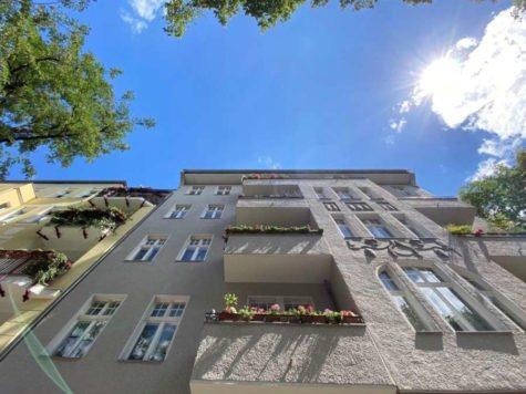 Traumhafte und ruhig gelegene Altbauwohnung über 2 Ebenen mit Garten in sehr begehrter Lage!, 10717 Wilmersdorf, Terrassenwohnung