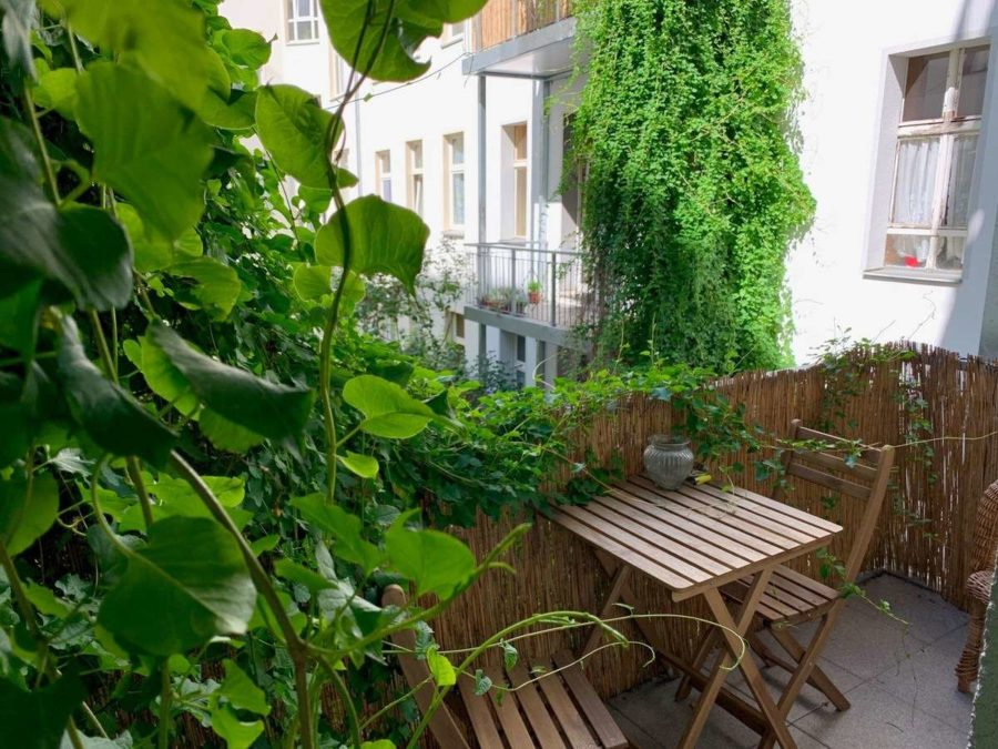 Lichtdurchflutete Altbauwohnung mit 2-Zimmern und Balkon in ruhiger und sehr beliebter Kiezlage - Balkon